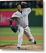 New York Yankees V Seattle Mariners Metal Print