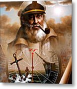 News  Map Captain 5 Or  Sea Captain Metal Print