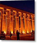 Night View From Temple Metal Print