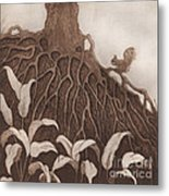 Nut Maze Metal Print