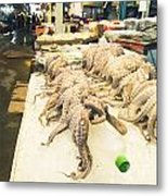 Octopus Sale In Korea Market Metal Print