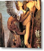 Oedipus And The Sphinx Metal Print