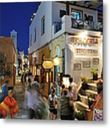 Oia Town During Dusk Time Metal Print