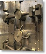 Old Bank Vault In Historic Building Metal Print