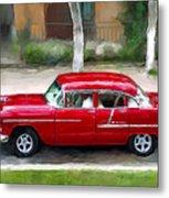 Red Bel Air Metal Print