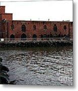 Old Brooklyn Pier Warehouse Metal Print