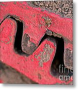 Old Cog Wheels Metal Print by Les Palenik