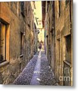 Old Colorful Stone Alley Metal Print