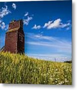 Old Grain Elevator Metal Print