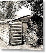 Old Log Homestead Metal Print