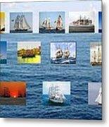 Old Tall Ships Metal Print