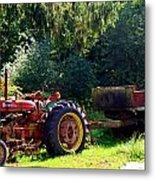 Old Tractor  Metal Print
