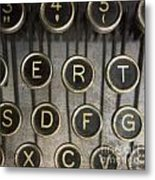 Old Typewrater Metal Print by Bernard Jaubert