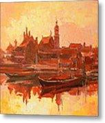 Old Warsaw - Wisla River Metal Print