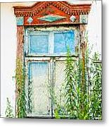 Old Wooden Window Metal Print