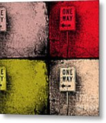 One Way Street Metal Print