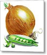Onion And Peas Metal Print