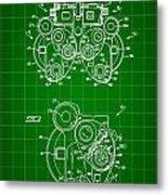 Optical Refractor Patent 1985 - Green Metal Print