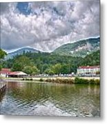 Overlooking Chimney Rock And Lake Lure Metal Print