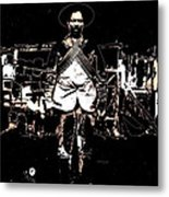 Pancho Villa With Cross Thatched Bandolier Rebel Camp No Locale Or Date-2013 Metal Print