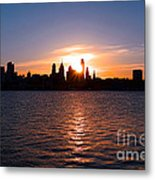 Philadelphia Sunset Metal Print