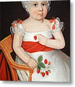 Phillips' The Strawberry Girl Metal Print