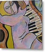 Pianos And Guitars Metal Print by Chaline Ouellet