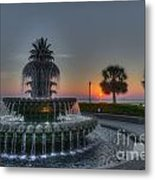 Pineapple Sunrise Metal Print