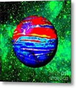Planet Disector Red 1 Metal Print