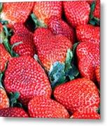 Plant City Strawberries Metal Print