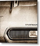 Plymouth Barracuda Grille Emblem Metal Print