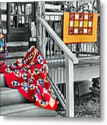 Porch Of Many Colors Metal Print