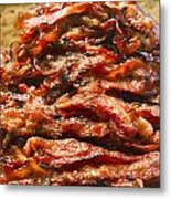 Pork Jerky-chinese Style Dried Meat Pieces Metal Print