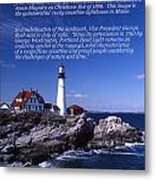 Portland Head Lighthouse Metal Print by Skip Willits