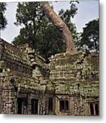 Preah Khantemple At Angkor Wat Metal Print
