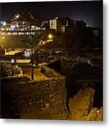 Puerto De La Cruz By Night Metal Print
