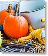 Pumpkins Decorations Metal Print