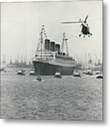 Queen Mary Leaves Southampton On Last Voyage Metal Print