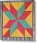 Quilting The Barn  Metal Print