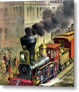 Railroad, 1874 Metal Print
