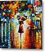 Rain Princess - Palette Knife Landscape Oil Painting On Canvas By Leonid Afremov Metal Print