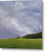Rainbow After A Storm Metal Print