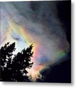 Rainbow Cloud Metal Print