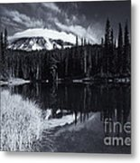 Rainier Capped Metal Print