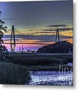 Charleston Bridge Low Tide Metal Print
