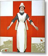 Red Cross Poster, C1917 Metal Print