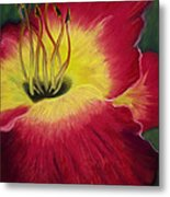 Red Day Lily Metal Print