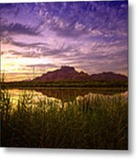 Red Mountain Reflections  Metal Print