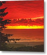 Red Pacific Metal Print