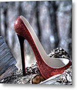 Red Shoe Metal Print